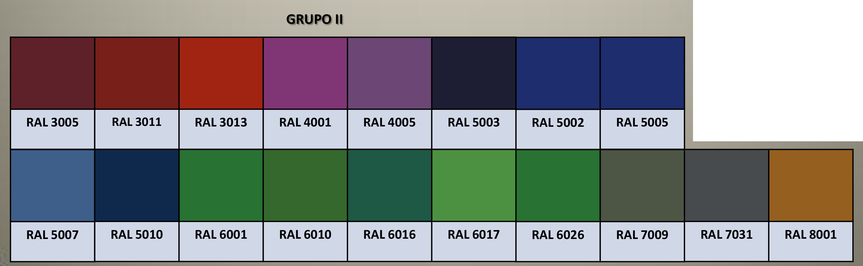 Carta Colores RAL - Grupò 2
